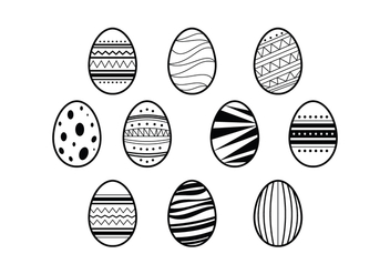 Free Easter Eggs Illustration Vector - Kostenloses vector #432181