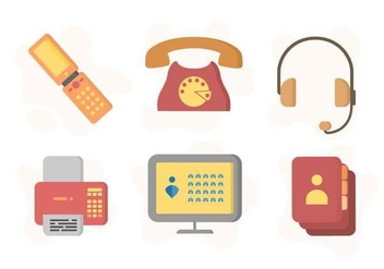 Free Iconic Communication Vectors - vector gratuit #432231