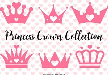 Vector Princess Crowns Set - Kostenloses vector #432241