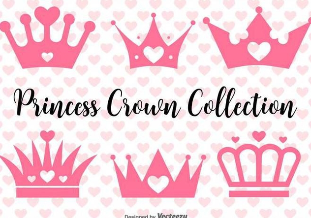 Vector Princess Crowns Set - Free vector #432241