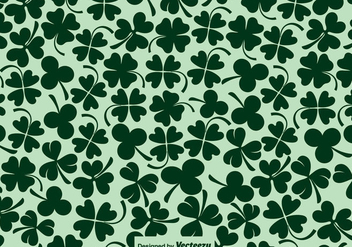 Vector Clover Icons Seamless Pattern - Free vector #432281