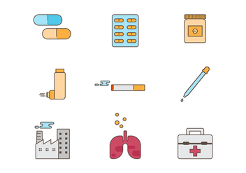 Free Asthma Medical Vector Icons - Free vector #432341
