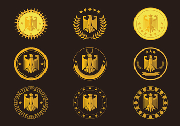 Eagle Seal Gold Logo Free Vector - Free vector #432351