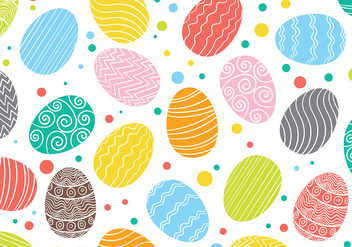 Easter Egg Pattern Vector Background - Free vector #432411