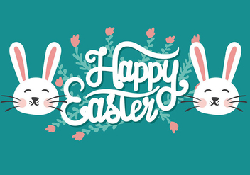 Easter Flat Background Vector - Free vector #432421