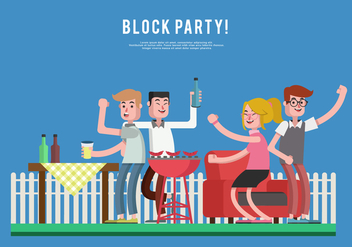 Block Party Vector Illustration - Free vector #432461