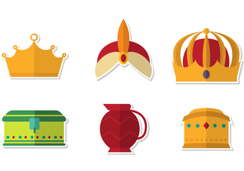 Epiphany Crown Vector Set - vector gratuit #432491