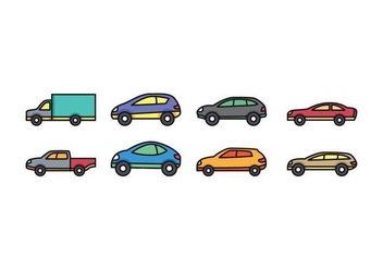 Car Icon Set - vector gratuit #432501