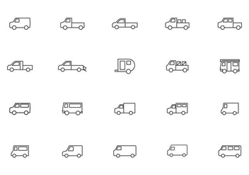 Free Moving Van and Truck Vectors - бесплатный vector #432541