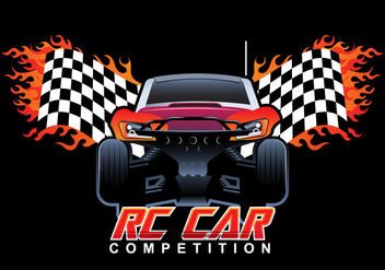Rc Car Competition Vector - Free vector #432551
