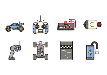 Remote Control Toys Icons - Free vector #432591