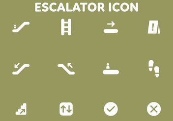 Stair And Gateway Vector Icon Pack - vector gratuit #432661