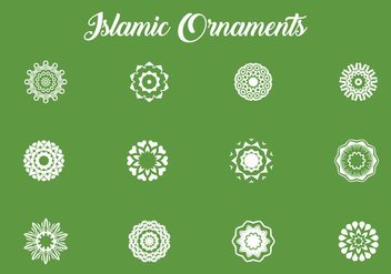 Various Of Islamic Ornaments - vector #432671 gratis