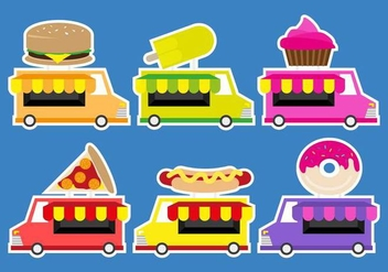 Camion Truck Food Illustration Vector - vector #432721 gratis