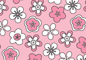 Pink Blossoms Pattern - vector #432761 gratis