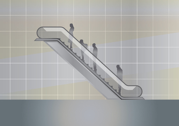 Modern Escalator Illustration - vector gratuit #432781