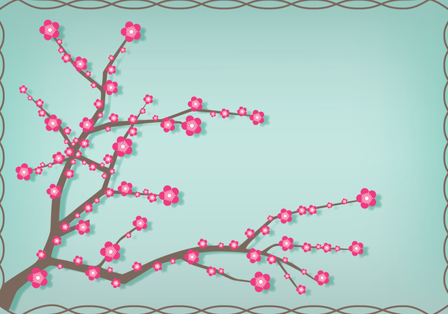 Japanese Plum Blossom Illustration - Free vector #432791