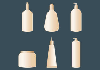Cosmetic Packaging Vectors - vector gratuit #432801