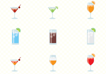 Alcohol And Cocktails Drinks Set - Free vector #432821