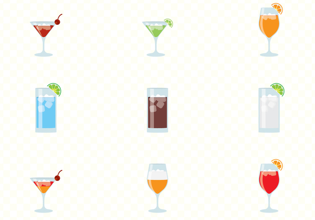 Alcohol And Cocktails Drinks Set - vector #432821 gratis