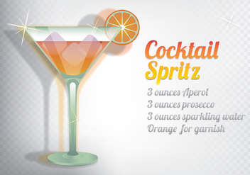 Spritz Cocktail - vector gratuit #432861