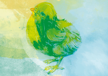 Watercolor Chick Background - vector gratuit #432891
