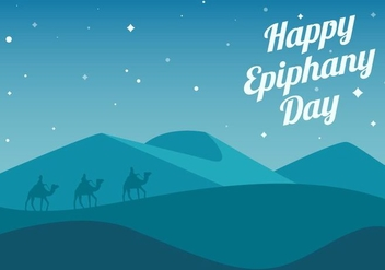 Free Happy Epiphany Day Background Vector - vector gratuit #433011