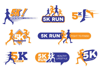 5K Run Logo Vector - Free vector #433041