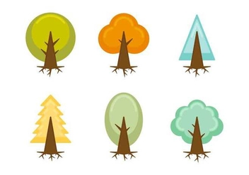 Free Unique Tree with Roots Vectors - Kostenloses vector #433071