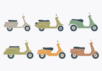 Lambretta Icon Set - vector gratuit #433081