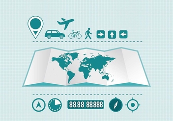 Travel Infographic Element Vector - vector #433091 gratis