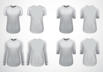Free White Clean Raglan T-Shirt Template Vector - Free vector #433101