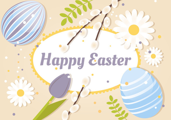 Free Spring Happy Easter Vector Illustration - vector gratuit #433111
