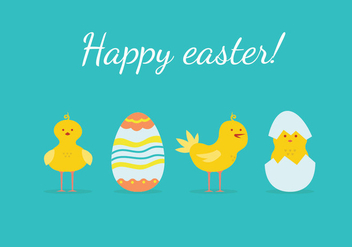 Easter Chick Illustration - Free vector #433161
