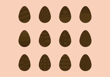 Set Of Chocolate Easter Eggs - vector gratuit #433181