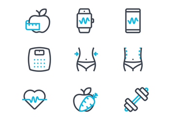Slimming Icons - Free vector #433191