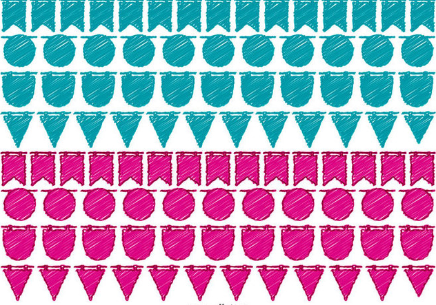 Hand Drawn Bunting Banners - Kostenloses vector #433201