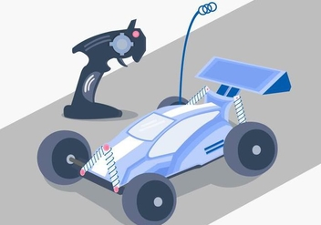 RC Car Racing Vector - бесплатный vector #433221