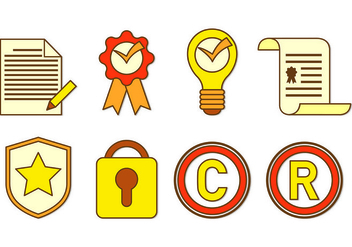 Icon Of Copyright - vector #433251 gratis