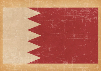 Flag of Bahrain on Grunge Background - Kostenloses vector #433371