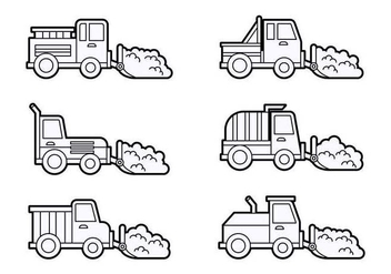 Free Outstanding Snow Plow Vectors - бесплатный vector #433411