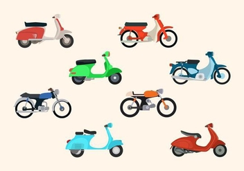Flat Motorcycle Vectors - бесплатный vector #433421