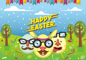 Hipster Easter Vector Design - бесплатный vector #433451