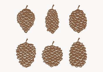 Vector Pine Cones Collection - vector gratuit #433501