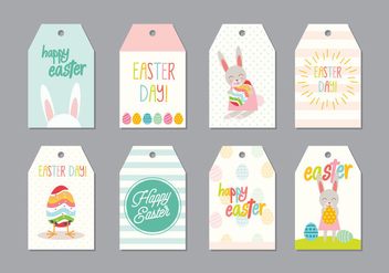 Easter Gift Tag Vector - Free vector #433551