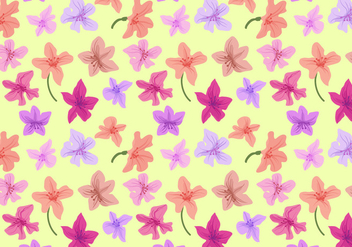 Free Rhododendron Pattern Vectors - Free vector #433561