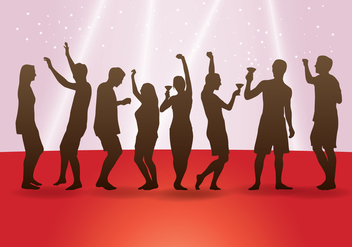 Dancing People Silhouettes - Free vector #433571