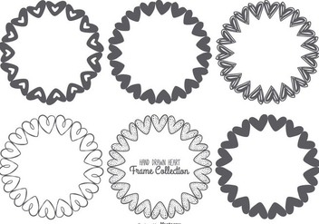 Cute Sketchy Heart Frames Collection - vector #433601 gratis