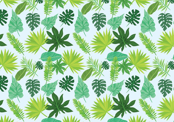 Free Exotic Leaves Pattern Vectors - vector #433651 gratis