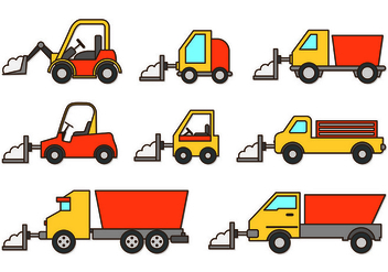 Set Of Snow Blower Icons - vector #433701 gratis